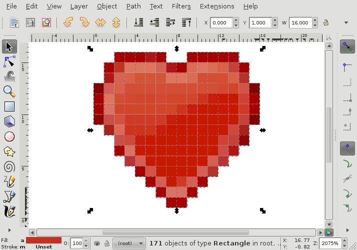 tango heart inkscape